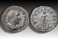 Ancient Coins - AR denarius Gordian / Gordianus III. Rome mint 241-243 A.D. - VIRTVTI AVGVSTI, near mint state coin -