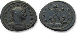 Ancient Coins - AE antoninianus Aurelian / Aurelianus, Serdica mint 274 A.D. -- beautiful condition, sharp strike --