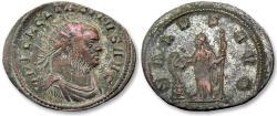 Ancient Coins - AE silvered antoninianus Tacitus, Rome mint 275-276 A.D. -- SALVS AVG --