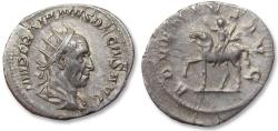 Ancient Coins - AR antoninianus, Trajan Decius. Rome mint 249-251 A.D. - ADVENTVS AVG -