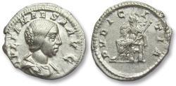 Ancient Coins - AR denarius Julia Maesa, Rome 218-225 A.D. - PVDICITIA -