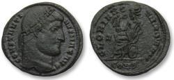 Ancient Coins - AE follis Constantine I, Constantinople 327-328 A.D. - GLORIA ROMANORVM, scarcer reverse -