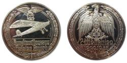 World Coins - 50mm Silver medal WW2: Fieseler Storch Fi-156 observation / reconnaissance plane