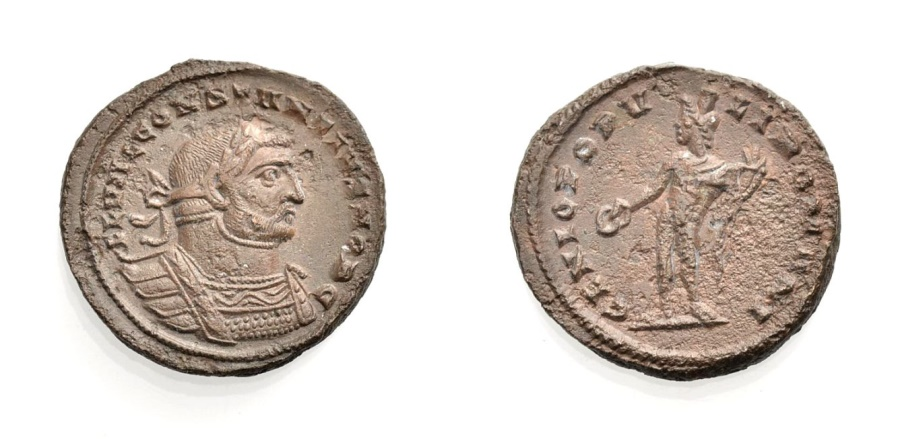 Ancient Coins - ROME, CONSTANTIUS I. CAESAR, Follis, London