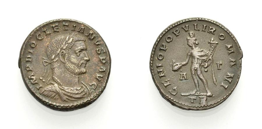 Ancient Coins - ROME, DIOCLETIAN, Follis, Trier