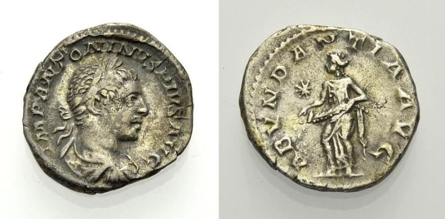 Ancient Coins - ELAGABALUS, Denarius, ABVNDANTIA AVG