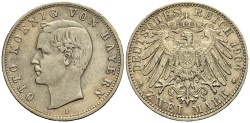 World Coins - BAYERN 2 Mark 1904