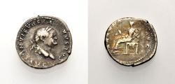 Ancient Coins - ROMAN IMPERIAL: VESPASIAN, Denarius