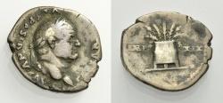 Ancient Coins - VESPASIANUS, Denarius