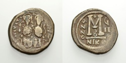 Ancient Coins - JUSTINUS II, FOLLIS, NIKOMEDIA