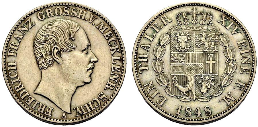 World Coins - MECKLENBURG, Taler 1848