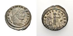Ancient Coins - ROME, MAXIMINUS II., Follis, Siscia, IOVI CONSERVATORI