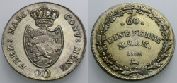 World Coins - NASSAU 20 Kreuzer 1809