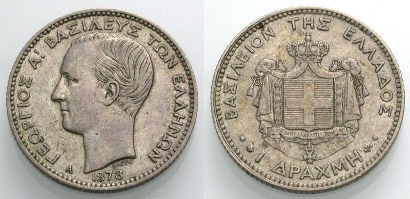 World Coins - GREECE, Drachm 1873