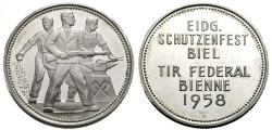 World Coins - SHOOTING MEDAL BIEL 1958