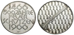 World Coins - SHOOTING MEDAL BASEL 1966