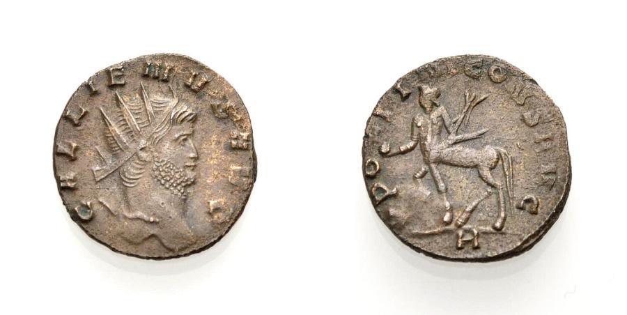 Ancient Coins - GALLIENUS, Antoninian, Rome, APOLINI CONS AVG