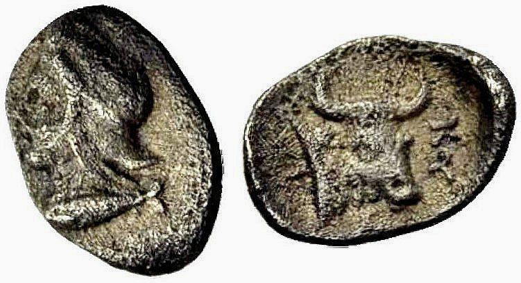 Ancient Coins - MYSIA, Cyzikus: Head of Attis