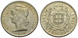 World Coins - PORTUGAL, Escudo 1916
