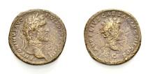 Ancient Coins - ANTONIUS PIUS, WITH MARCUS AURELIUS CAESAR, Sestertius