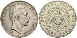 World Coins - PREUSSEN 5 Mark 1904