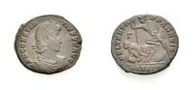 Ancient Coins - ROME, CONSTANTIUS II., Follis, falling horseman, Constantinople