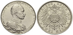 World Coins - PREUSSEN 2 Mark 1913 Silver Jubilee