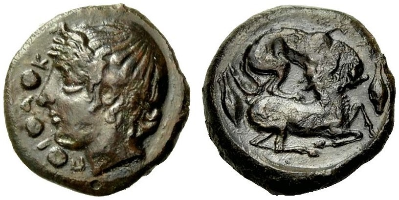 Ancient Coins - SICILY: PIAKOS