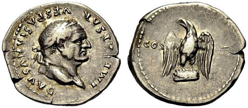 Ancient Coins - VESPASIAN, Eagle, COS VII