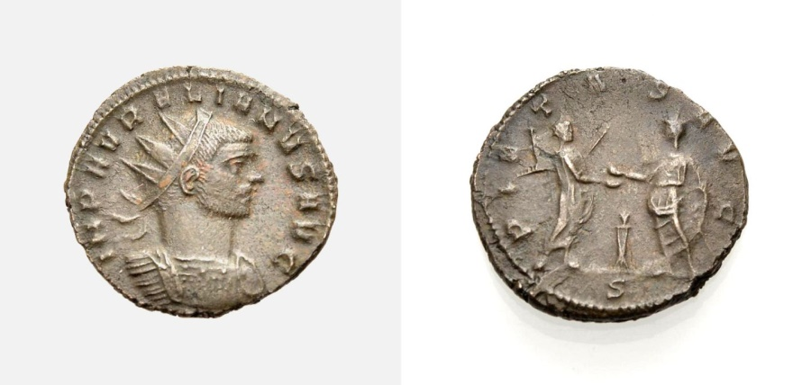 Ancient Coins - ROME, AURELIANUS, Antoninian, PIETAS AVG,  Milan