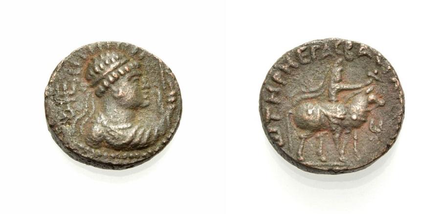Ancient Coins - KUSAN, SOTER MEGAS, AE Tetradrachmon