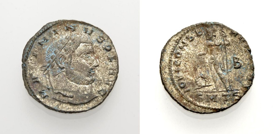 Ancient Coins - ROME, MAXIMINVS II, Nummus, Thessalonica