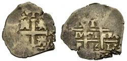 World Coins - COB 1 Real 1686 Potosi