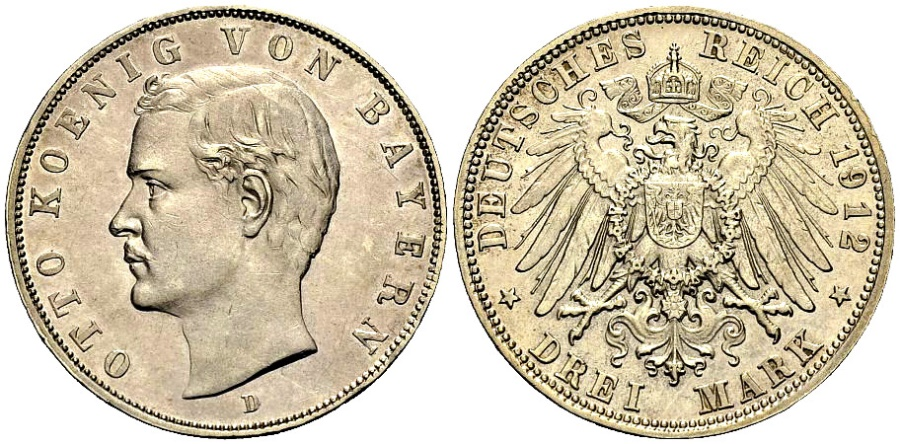 World Coins - BAYERN 3 Mark 1912
