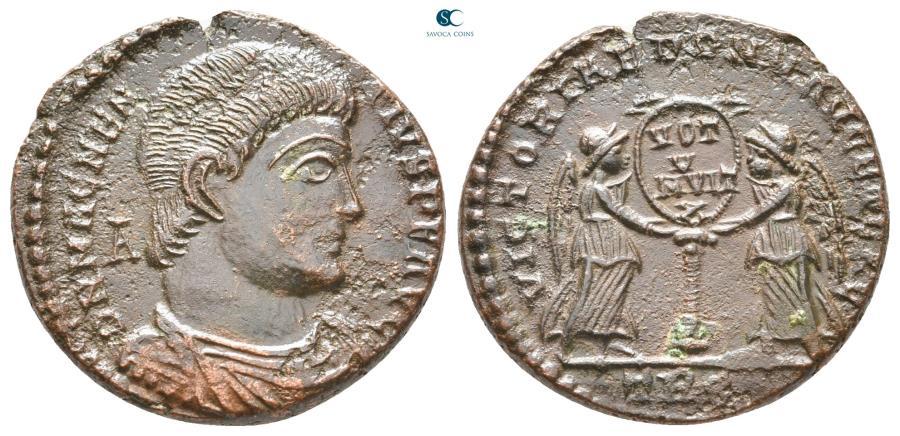 Ancient Coins - Magnentius AD 350-353. Treveri Centenionalis Æ