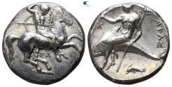 Ancient Coins - CALABRIA, Tarentum. Nomos (325-280 BC).