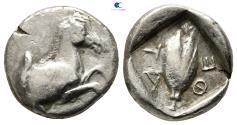 Ancient Coins - Thessaly. Thessalian League circa 470-460 BC.  Hemidrachm AR
