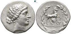 Ancient Coins - Aeolis. Kyme . Metrophanes, magistrate after 190 BC.  Tetradrachm AR.