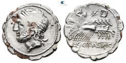 Ancient Coins - L. Cornelius Scipio Asiaticus 106 BC. Rome. Fourreè Serratus.