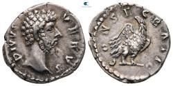 Ancient Coins - Divus Lucius Verus AD 169. Rome Denarius AR
