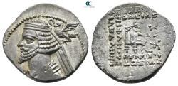 Ancient Coins - Kings of Parthia. Phraates IV 38 BC-  2 AD. Ekbatana. Drachm AR.