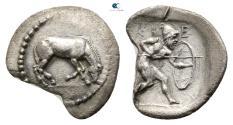 Ancient Coins - Thessaly. Kierion circa 400-360 BC.  Obol AR.