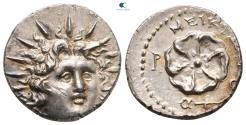 Ancient Coins - Islands off Caria. Rhodos circa 88-42 BC. MEIKIΩN (Meikion), magistrate Drachm AR