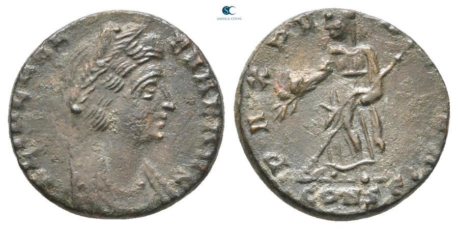 Ancient Coins - Helena. Augusta AD 328-329. Constantinople Follis Æ