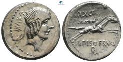 Ancient Coins - L. Calpurnius Piso Frugi 90 BC. Rome Denarius AR