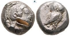 Ancient Coins - Attica. Athens 485-480 BC. Tetradrachm AR