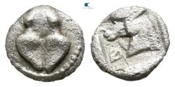Ancient Coins - Thessaly. Pherae 460-440 BC.  Obol AR