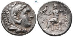 "Ancient Coins - Kings of Macedon. Pella (?). Alexander III ""the Great"" 336-323 BC. Struck circa 280-275 BC Tetradrachm AR"