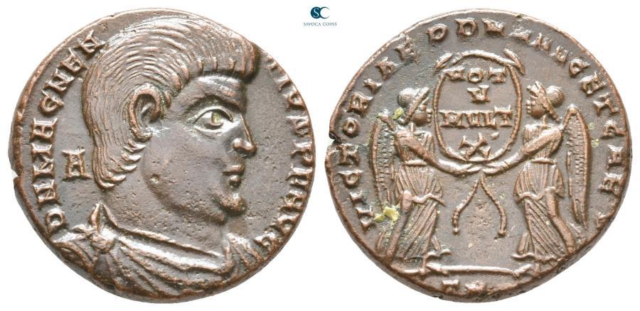 Ancient Coins - Magnentius AD 350-353. Struck AD 352. Treveri Centenionalis Æ