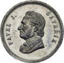 World Coins - Bohemia Medal 1861 Death of Pavel J. Safarik